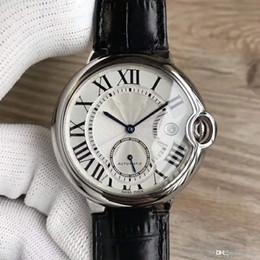 $enCountryForm.capitalKeyWord NZ - Luxury men's automatic machine core watch, stainless steel dial, leather belt, two - needle and half men sport sapphire mirror watch.