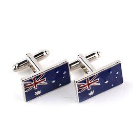 $enCountryForm.capitalKeyWord Australia - National Flag Australian flag Cufflink Cuff Link sleeve nail for women men shirts dress suits alloy Cufflinks Christmas gift