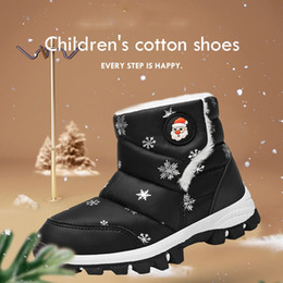 waterproof snow boots boys Australia - JAYCOSIN 2019 Snow Boots Kids Winter Boots Boys Girl Waterproof Shoes Cute Christmas Warm Baby Toddler Footwear Size 26-30