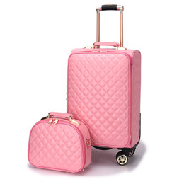 6acf8cbe2 Women's fashion set of trolley case,Lady Cute suitcase,Small fresh Korean  Trunk,Student Luggage,20