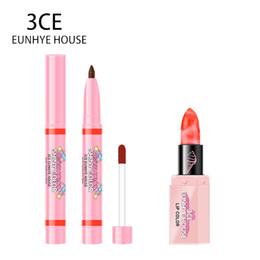 Matte Color Lasting Lipsticks Australia - 3CE Eunhye House Makeup Set Lipliner Lip Makeup 2 In 1 Long lasting Lipgloss Pencil & Matte Lipsticks Lip Functional Cosmetic