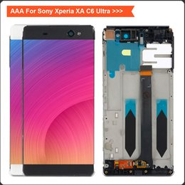 Discount xperia ultra - For Sony Xperia XA C6 Ultra LCD F3211 F3212 F3215 F3216 F3213 LCD Display Touch Screen Digitizer Frame Replacement xa ul