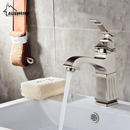 Brush electroplating online shopping - Brass Electroplate Brushed Basin Faucets Silver Bathroom Sink Faucet Single Handle Hole Deck Mount Mixer Water Tap