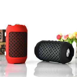 portable b speakers NZ - Mini BS-116 Bluetooth speaker flashing lights camouflage wireless portable mini stereo super brass FM radio TF USB 4 colors