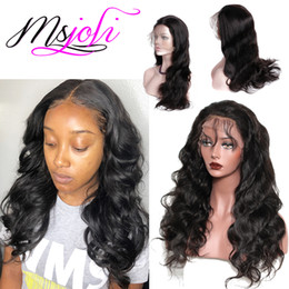 Malaysia hair lace wig online shopping - Body Wave Malaysia Frontal Human Hair Full Lace Wigs Pre Plucked Peruvian Body Wave lace Front Wigs Remy Hair