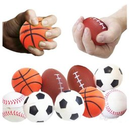 Wholesale rugby house for sale – custom Soccer Football Squishy Toys Baseball Basketball Volleyball Slow Rising Jumbo Squeeze Phone Charms Cream Bread Stress Reliever Gift