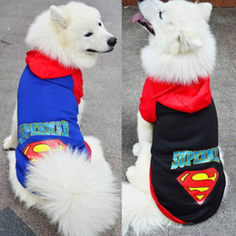 $enCountryForm.capitalKeyWord Australia - Big dog clothes big dog sweater superman batman sweater autumn and winter dog clothes golden hair satsuma pet clothes