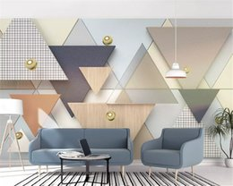 Cloth Meters Australia - Wall Papers Home Decor Interior Decoration 3d Wallpaper New 3d Geometric Triangle Plaid Cloth Stitching Background