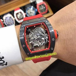 $enCountryForm.capitalKeyWord Australia - New Best Edition 43mm RM055 Skeleton Dial Black Ceramics Case Japan Miyota Automatic RM 055 Mens Watch Red Rubber Strap High Quality Watches