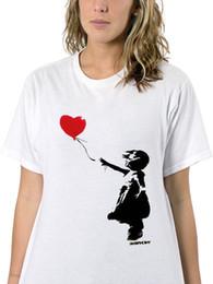 $enCountryForm.capitalKeyWord NZ - WOMENS WHITE BANKSY STREET ART T-SHIRT LITTLE GIRL HOLD RED LOVE HEART BALLOONFunny free shipping Unisex Casual Tshirt top