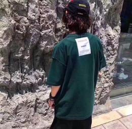 $enCountryForm.capitalKeyWord NZ - Foreign trade mens hip hop T-shirts hong kong bottoming shirt letter print round neck bf loose crane printing short-sleeve couple clothing