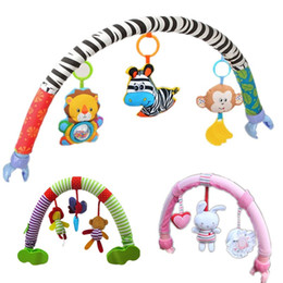 Cot Toys For Babies Australia - SOZZY Baby Hanging Toys Stroller Bed Crib For Tots Cots rattles seat plush Stroller Mobile Gifts animals Zebra Rattles 50% off
