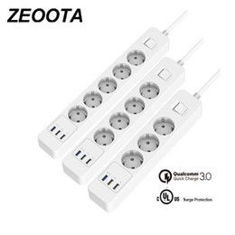 $enCountryForm.capitalKeyWord Australia - Power Strip 3 4 5 Ac Outlets Sockets Eu Plug Surge Protectorwith 3 Usb Qc3.0 Fast rapid quick Charger And 1.5m Extension Cable J190522
