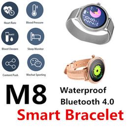 Wholesale M8 Smart Bluetooth bracelet Intelligent health monitoring Strap removal easy and versatile Heart rate blood pressure Menstrual reminder Band