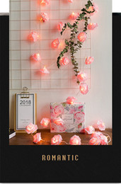 $enCountryForm.capitalKeyWord UK - LED Light Up Rose Flower Fairy String Lights rose Flower Glowing Valentines Day Wedding Decoration Fake Flowers Party Supplies Decoration