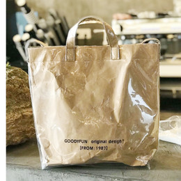 $enCountryForm.capitalKeyWord NZ - Women Big Handbag Retro Kraft Paper PVC Large Capacity Tote Bag Female Envelope Pattern Pendant Shoulder Bag Summer Beach Bag