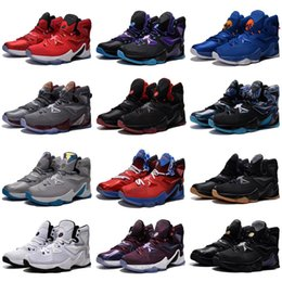 e64efd224c2 Cheap new Mens Lebron 13 XIII basketball shoes Blue Black Gold BHM  Christmas Easter Halloween James 23 air flights sneakers tennis for sale