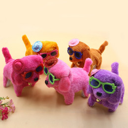$enCountryForm.capitalKeyWord NZ - Robotic Cute Electronic Dog Pets Kawaii Puppy New Battery Interactive Powered Steel Colorful Plush Walking Neck Bell Barking Birthday gifts