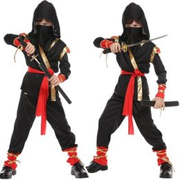 assassins costumes UK - Newest Boys Girls Ninja Costumes Kids Warrior Stealth Children Cosplay Assassin Costume for Halloween Party Dress Toddler dress
