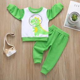 cute toddler pajamas NZ - World Map Baby Boy Girl Clothes Sets Sweatshirt Toddler Baby Boys Girls Cartoon T-Shirt Tops+Pants Pajamas Sleepwear Outfits New