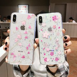 Sexy Girl Iphone Australia - Fashion Sexy Girl Lady Soft Flower TPU Case For Iphone XS X 8 7 6 plus Bling Glitter Luxury Clear Fashion Skin Cover