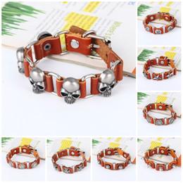 Metal Cuff Belt Australia - Charm Bracelet for Women Leather Thick Male Bracelet Metal Cross Rivets Studded Cuff Bangle Single Buckle Belt Bracelet
