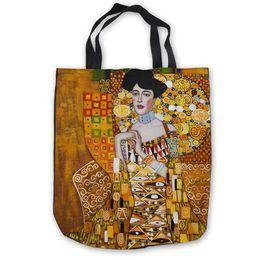 $enCountryForm.capitalKeyWord Australia - designer handbags Custom Canvas Gustav_klimt_-_ria_munk_ (1) Tote Hand Bags Shopping Bag Casual Beach Handbags Foldable 180911-03-45