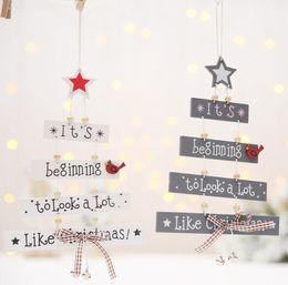 $enCountryForm.capitalKeyWord Australia - Christmas Tree Wooden Letter Hanging Pendant Wreath Garland Ornament For Home Shop Mall Window Showcase Display Decor Supply