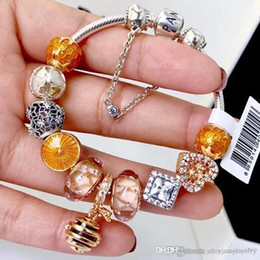 $enCountryForm.capitalKeyWord NZ - Black Friday 2018 Pandora shine honeybee sunshine ray ALE rose gold plated charm bracelets 925 sterling silver jewelry