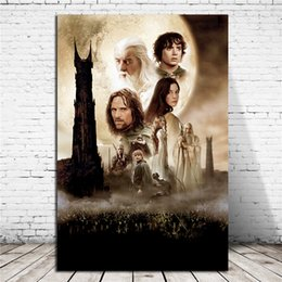 Printed Rings Australia - Lord Of The Rings The Two Towers HD Wall Art Canvas Poster And Print Canvas Painting Decorative Picture For Office Living Room Home Decor