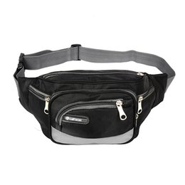 Discount travel money pouch waist - Waterproof Men Waist Fanny Pack Adjustable Strap Money Belt Bag Oxford Cloth Phone Pouch Travel Hip Purse Male Waist Bag