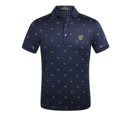 Polyester Mens Polo Shirts UK - 2019 Top Luxury Mens Designer Polo T shirts Summer Short Sleeved Turn Down Collar Short Sleeved Tops Polo Shirts