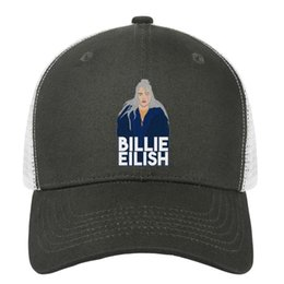 a5d6268b Billie Eilish arts man's snapback hat custom adjustable beautiful women  summer cap original trucker cap mesh sun hats