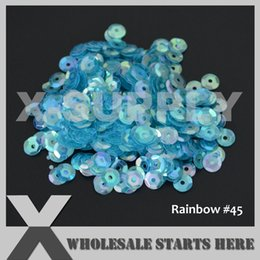 Evening Nails Australia - (Rainbow Colors) Round Cup Loose Sequin Paillettes for Party Evening Dress,Costume,Nail Art