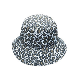 China Fisherman Hatleopard Outdoor Bucket Hats Sun Beach Boonie Female Caps Cappello Pesca C19041001 cheap wholesale polyester bucket hat suppliers
