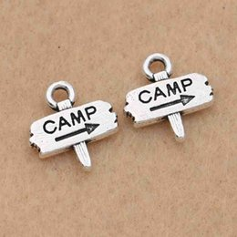 Camp Charms Australia - ashion Jewelry Charms 30pcs Antique Silver Plated Camp Tags Charms Pendants Jewelry Making Bracelet Handmade Accessories Diy Findings 13x...