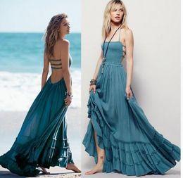 $enCountryForm.capitalKeyWord Australia - Free shipping Beach dress sexy dresses boho bohemian people dress summer long blackless cotton women party hippie chic vestidos mujer