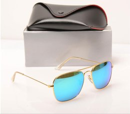 mens wholesale glasses Australia - 10PCS Brand mens sunglasses glass lens Brand Designer sun glasses Color lens Mirror sunglasses womens glasses fashion new design sun glasses