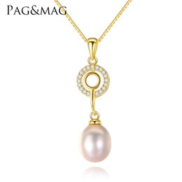 $enCountryForm.capitalKeyWord NZ - PAG&MAG High Quality 925 Sterling Silver Link Chain Necklace Women Nature Freshwater Key Design Pendant Necklace Fine Jewellery Price: US $1