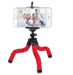 octopus tripod for cell phone NZ - Mini Flexible Tripod Holder Stand For Cell Phone Car Camera Universal Octopus Sponge Bracket Selfie Monopod Mount Adjustable With Clip