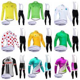 Tour france bike online shopping - SUNWEB TOUR DE FRANCE team blue M Long Cycling Jersey Set Bike Pants Men Winter Thermal Fleece BICYCLE Maillot Culotte Clothing52349