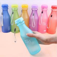 $enCountryForm.capitalKeyWord Australia - Candy Color Plastic Water Bottle Frosted Sealed Sports Kettle Acylic Bottle Unbreakable Portable Outdoor Indoor wit no spill proof lid