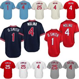 5d570d18f02ce St. Louis Cardinals Camisetas de béisbol 4 Yadier Molina 25 Dexter Fowler  Boutique de bordado Hombres Ropa deportiva Ropa deportiva de béisbol barata