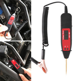 Spring powered car online shopping - Universal V LCD Digital Automotive Car Circuit Tester Auto Voltage Meter Power Probe Lamp Test Pen with inch Spring Cable