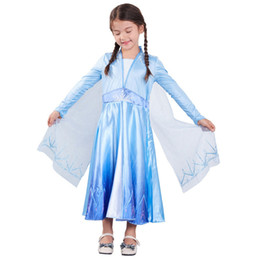 Wholesale star show resale online - Girls Cosplay Dresses Printed Princess Stage Performance Costumes Kids Clothes Christmas Party Show Dress