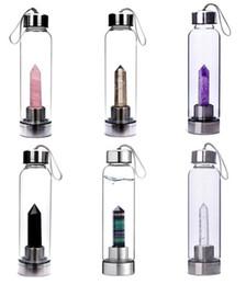 $enCountryForm.capitalKeyWord Australia - Crystal Quartz Crystal Gemstone Water Bottle Wand Point Reiki Healing Crystal Glass Healing Bottle Glass