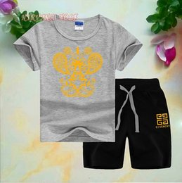 $enCountryForm.capitalKeyWord Australia - Children Sets 2-8T Kids T-shirt And Short Pants 2Pcs sets Baby Boys Girls 94% Cotton Diamond Design Printing Style Summer Sets