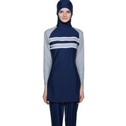 f3865718ebf Muslim Badpak Plus Size Swimwear Women Modest Patchwork Full Cover Long  Sleeve Swimsuit Islamic Hijab Islam A Modest Swimsuit