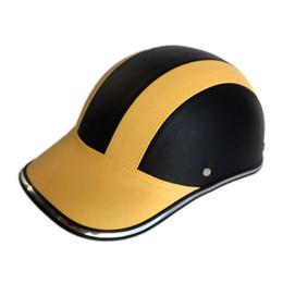 $enCountryForm.capitalKeyWord Australia - Hot Leather Motorcycle Half Face Helmet Baseball Cap for Bike Motorbike Electric Car JLD