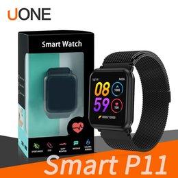 Reloj smaRtwatch inteligente online shopping - P11 smart watch fitness tracker reloj inteligente sport Hart Rate PK N88 smartwatch for apple watch DZ09 fitbit
